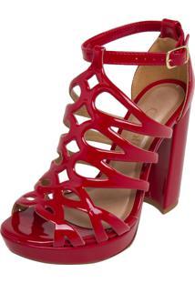 Sandália Crysalis Meia Pata Vermelha