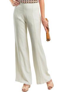 Calça Mx Fashion Linho Pantalona Fred Off White