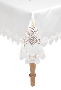 Toalha De Mesa Argivai Quadrada Sublime 220X220Cm Off-White