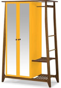 Armário Multiuso 2 Portas Stoka 982 Nogal/Amarelo - Maxima