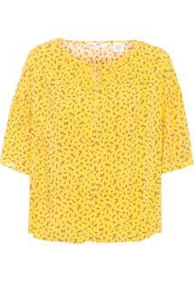 Blusa Feminina Manga - Amarelo