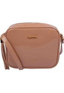 Bolsa Transversal Factor Fashion Lisa Verniz Nude