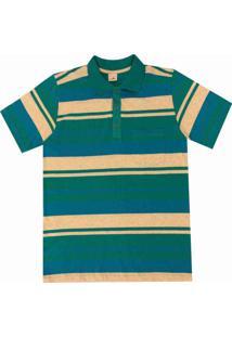 Camisa Pau A Pique Polo Turquesa