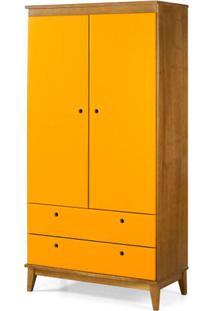 Armario Multiuso Hendrix Amarelo Estrutura Amendoa 174Cm - 60826 - Sun House