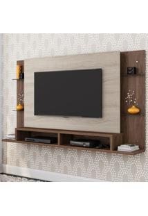 Painel Para Tv Malbec 4004024 Carvalho Viena/Malte - Belaflex Móveis