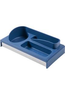 Organizador Para Pia Multiuso - Suprema 24 X 12,5 X 6,5 Cm Azul Brinox