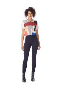 Calça Maria.Valentina Jegging M. Isis Cós Alto Bolso Faca Jeans