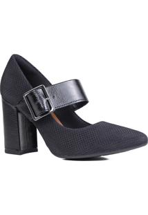 Sapato Scarpin Dakota Salto Grosso Em Verniz