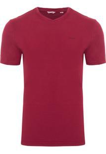 Camiseta Masculina Slim Com Estampa Mirror - Vermelho