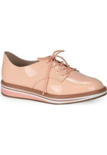 Sapato Oxford Beira Rio Rosa