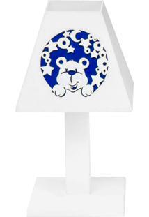 Abajur Urso Nas Estrelas Marinho Mdf - Azul Marinho - Ursinhos