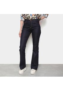 Calça Jeans Flare Cantão Cintura Média Feminina - Feminino