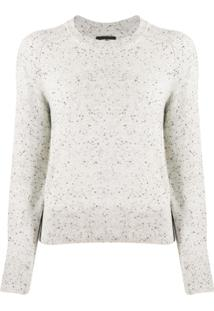 Isabel Marant Crew Neck Knitted Jumper - Cinza