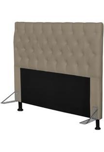 Cabeceira Cama Box Casal Queen 160Cm Cristal Corano Areia - Js Móveis