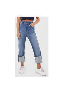 Calça Jeans Forum Reta Cropped Estonada Azul