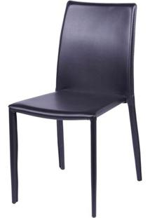 Cadeira Bali Estofada Couro Ecologico Marrom - 16376 Sun House