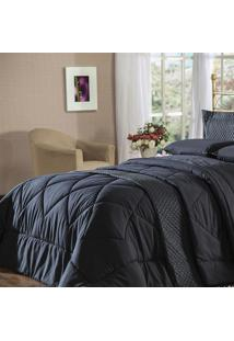 Edredom Queen Plumasul Summer Soft Touch 240X260Cm Preto
