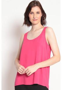 Blusa Lisa Com Vazado Pinkhering