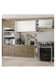 Cozinha Completa Madesa Stella 290002 Com Armário E Balcão Branco/Rustic Cor:Branco/Rustic/Branco