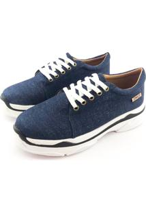 Tênis Quality Shoes Chunky Jeans Escuro