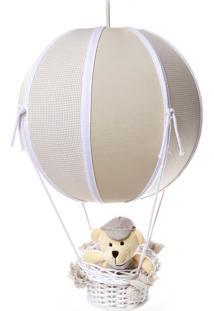 Lustre Balão Bolinha Urso Potinho De Mel Bege