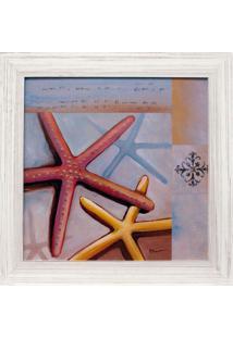 Quadro Estrela Do Mar Branco 35X35 Cm Kapos
