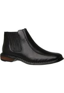 Bota Doctor Shoes Modelo Italiano 3030 - Masculino-Preto