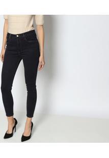 Jeans Very Skinny Ankle High - Azul Escuro -Lança Pelança Perfume