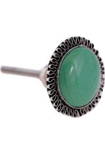 Puxador- Pashmina- Puxador Porta Ceramica- Verde - Kanui