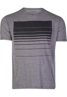 Camiseta Khelf Listrado Degradê Preto