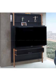 Estante Home Theater Para Tv Até 60 Polegadas Karl 180 X 134,8 X 25,5 Preto - Urbe Móveis