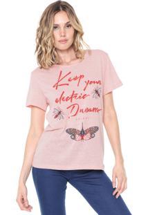 Camiseta Colcci Eletric Dreams Rosa
