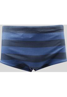 Sunga Masculina Slip Listrada Azul Marinho