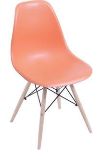 Cadeira Eames Dkr- Laranja & Bege- 80,5X46,5X42Cm