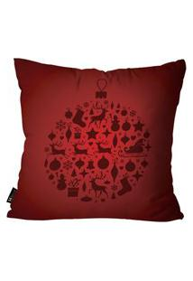 Capa Para Almofada De Natal 45X45Cm Vermelho