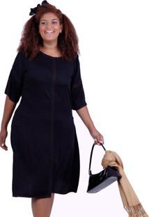 Vestido Vickttoria Vick Tilda Black Plus Size