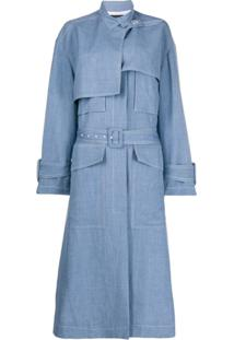 Joseph Trench Coat Oversized - Azul