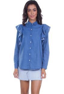 Camisa Levis Feminino Ione Azul Azul