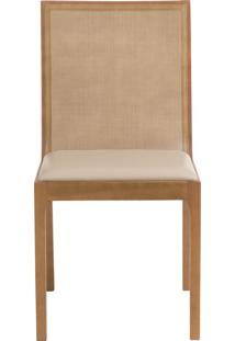Cadeira Bete - Couro Bege