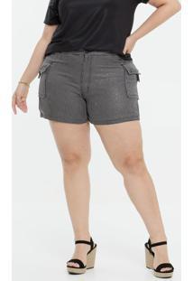 Short Plus Size Feminino Cargo Razon