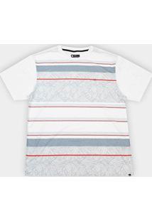 Camiseta Plus Size Hurley Silk Oversize Especial Pupokea Masculina - Masculino-Branco