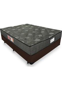 Cama Box Casal + Colchão De Espuma D23 - Prorelax - Sienna 138X188X53Cm Marrom