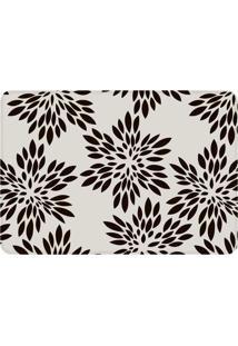 Tapete Love Decor De Sala Wevans Flowers Branco/Preto