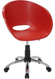 Cadeira Elena Em Polipropileno E Aço Vermelho Tramontina