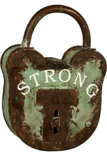 Porta-Chaves Cadeado De Metal Strong - Unissex
