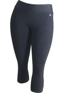 Calça Plus Size Corsário Way Fit Feminina - Feminino-Chumbo