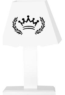 Abajur Coroa Mdf - Branco - Clássicos