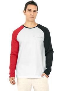 Camiseta Kahú Guardians Bicolor Branca