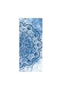 Adesivo Decorativo De Porta - Mandala Azul - 2160Cnpt