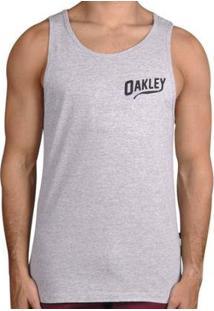 Regata Oakley O-Legs Tank Masculino - Masculino-Cinza